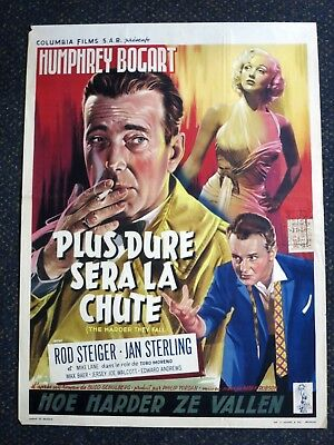 The Harder They Fall  Humphrey Bogart   Belgian Movie Poster