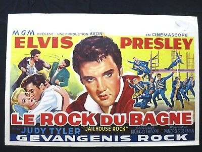 Jailhouse Rock Elvis Presley     Belgian Movie Poster