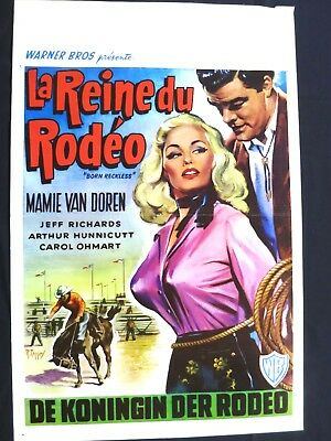 Born Reckless  Mamie Van Doren   Belgian Movie Poster