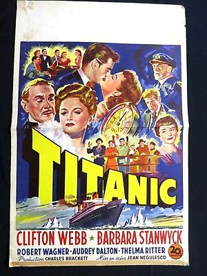 Titanic  Barbara Stanwyck  Clifton Webb 1953   Belgian Movie Poster