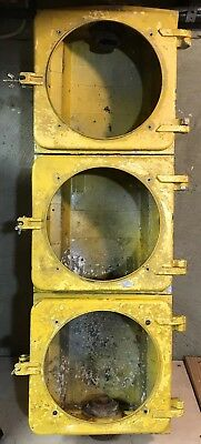 """8"""" Aluminum 3 section Marbelite Incandescent Traffic Signal Light wired & works"""