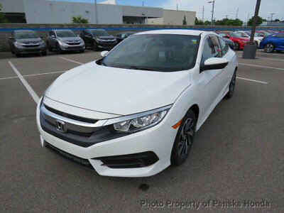 2018 Honda Civic Coupe LX CVT LX CVT New 2 dr Coupe CVT Gasoline 2.0L 4 Cyl Taffeta White