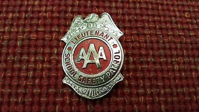 VINTAGE SCHOOL SAFETY PATROL BADGE LIEUTENANT BADGE AAA 60-70s