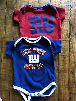 56ba376acee B76 New York Giants Baby infant 3 Pack Bodysuit 6 9 Months 3 Different Suits
