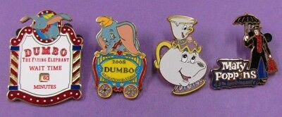 Disney Trading Pins Mixed Lot - Dumbo Train Mrs Potts Mary Poppins LE MMT#523