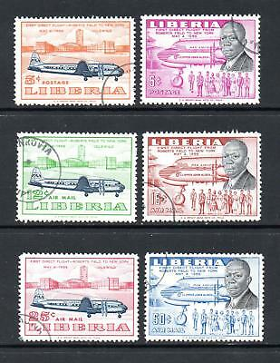 Liberia 1957 First Flight to New York . Complete. CTO. One postage for all buys.