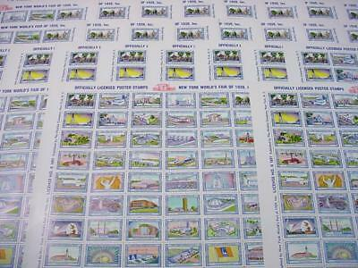 NobleSpirit NO RESERVE {3970}50x Scarce 1939 NYC World's Fair Poster Stamp Sheet