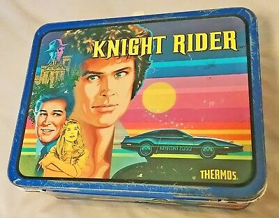 Knight Rider Lunch Box Vintage Rare 80's no thermos 1982 1983