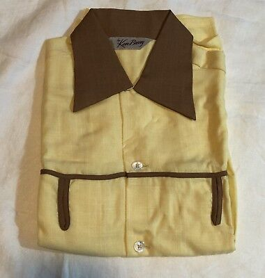 1950s Vintage KEN BARRY Boy's Shirt Still Pinned & Folded w/Original Tag size 14