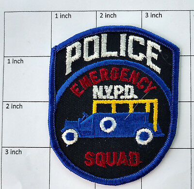 NYPD Emergency Squad Police patch