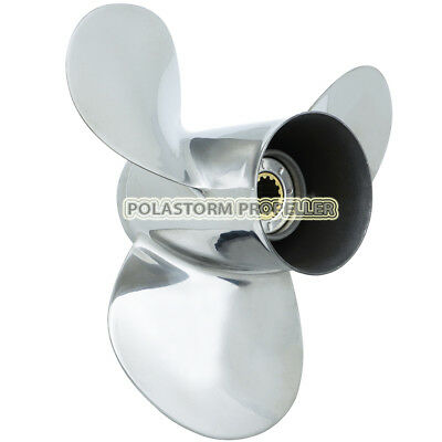 Stainless Steel Outboard Propeller 11-3/4X12 for Yamaha 25-60HP Engines