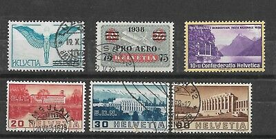 Switzerland, 1938 Issues, used  ( Fete MH)