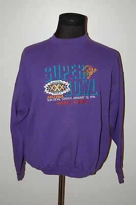 Vintage Logo 7 Super Bowl 30 Sweatshirt Dallas Cowboys Pittsburgh Steelers Rare