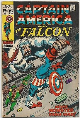 Marvel Captain America and Falcon, Vol. 1, No. 135, March 1971 - STAN LEE