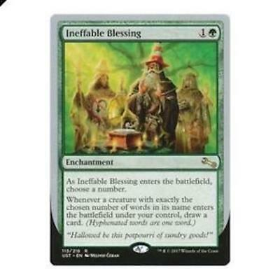 Ineffable Blessing - Choose a number Near Mint UST MTG Unstable