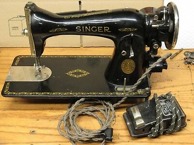 SINGER SEWING MACHINE Model 40 Deco Design Antique 4040 Enchanting Antique Singer Sewing Machine Model 15 91