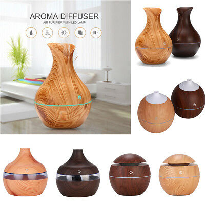 LED Ultrasonic Aroma Diffuser Essential Oil Aromatherapy Air Humidifier Purifier