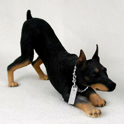 DOBERMAN PINSCHER (BLACK) MY DOG Figurine Statue Pet Lovers Gift Hand Painted