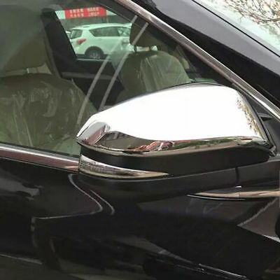 For Toyota Highlander 2013 2014 2015 ABS Chrome Side Wing Rearview Mirror Cover