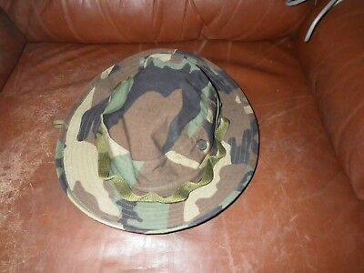 GENUINE US ISSUE BOONIE HAT WOODLAND CAMO Enhanced RIPSTOP Sz 7.5 - USA MADE 7c031d42d861