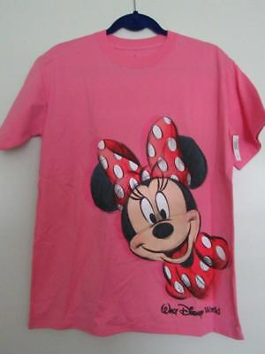 NWT Disney Parks WDW MINNIE MOUSE Sketch Pink Ladies XL Extra Large T-shirt Tee