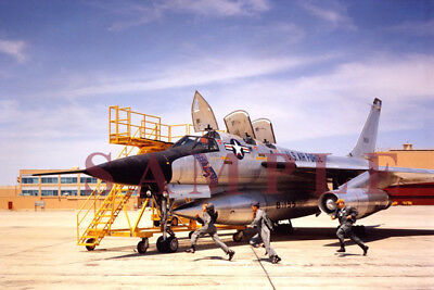 35mm slide USAF Convair B-58A 58-1011  scramble 43rd BW 1966