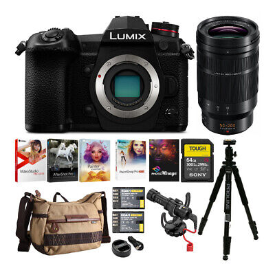 Panasonic Lumix DC-G9 Mirrorless Digital Camera with Leica 50-200mm Lens Bundle