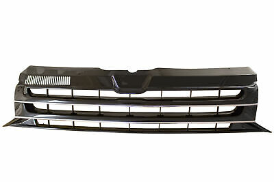 Badgeless Black and Chrome Front Grille VW T5 Facelift T5.1 2010–2015