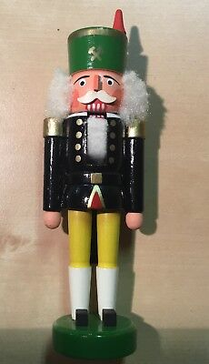"Wonderful Small 6"" Vintage German Nutcracker Soldier King Hand Painted"
