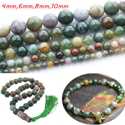Crystal natural stone round agate beads india agate Bracelet jewelry making