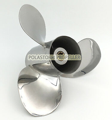 Stainless Steel Outboard Propeller 9-1/4X9-3/4 for Yamaha 9.9-20HP Engines