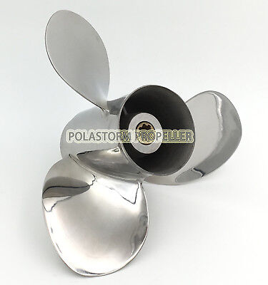 Stainless Steel Outboard Propeller 9-1/4X11 for Yamaha 9.9-20HP Engines