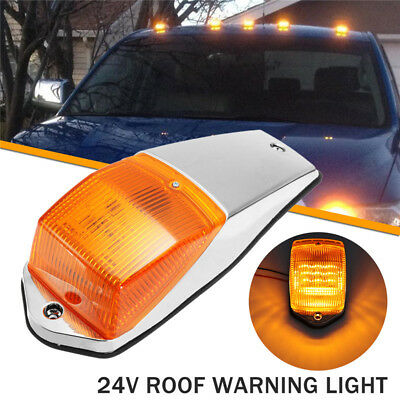 2x 24V 33LED Amber LED Cab Roof Top Marker Lights For Truck SUV Pickup Trailer
