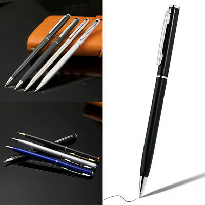 Stainless Steel Ballpoint Pen Ball Point Writing Pen Student Office Supplies New