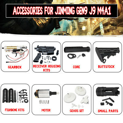 Upgrade Accessories Modified Parts For JinMing Gen9 M4A1 Gel Ball Blaster Toy