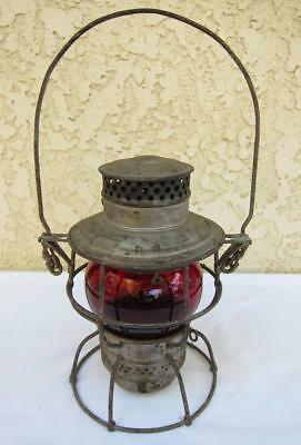 Vintage Adlake No. 250 Kero Red Globe Pacific Electric Railway Lantern