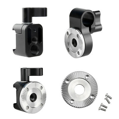 NICEYRIG Nato Clamp w 15mm Rod Clamp ARRI Standard Rosette Mount for Camera Cage