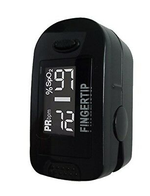 Concord BlackOx Fingertip Pulse Oximeter with Reversible Display, Carrying Case