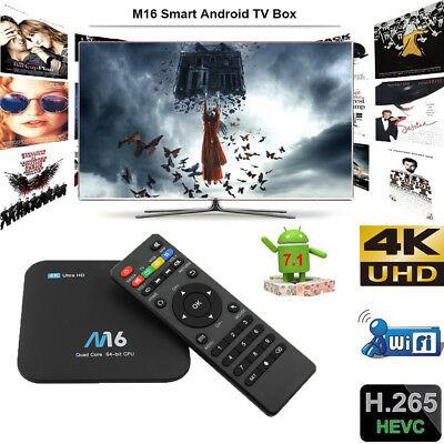 NEW 1+8G Android 7.1 Quad Core 4K Smart TV BOX WIFI Ultra HD Media Player C7P9