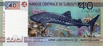 DJIBOUTI 40 Francs 2017 P NEW 40th Anniversary Independence UNC Banknote