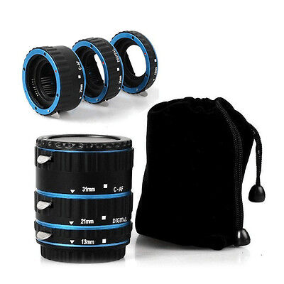 Metal AF Auto Focus Macro Extension Tube/Ring fit for CANON EOS EF-S 5D 5D2 Lens