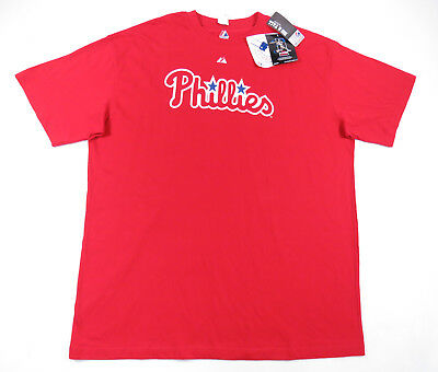 Chase Utley Philadelphia Phillies Majestic Red #36 Jersey Tshirt Mens 3Xlt Tall