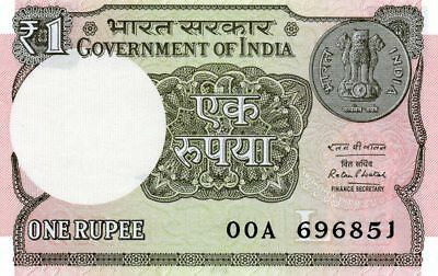 INDIA 1 Rupee 2016 P NEW Letter L UNC Banknote .