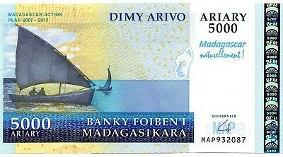 MADAGASCAR 5000 Ariary 2008 P94a UNC Banknote