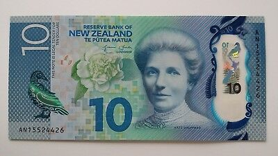 NEW ZEALAND $10 Dollars 2015 P192 UNC Banknote