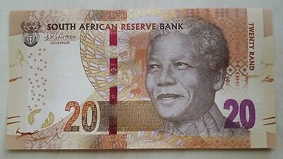 SOUTH AFRICA 20 Rand ND 2015 P139b Sign Kganyago Omron rings UNC Banknote