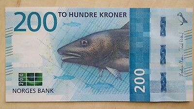 NORWAY 200 Krone 2017 (2016)  P NEW UNC Banknote
