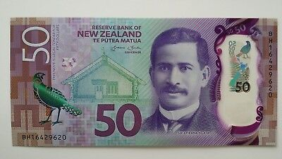 NEW ZEALAND $50 Dollars 2016 P194 UNC Banknote