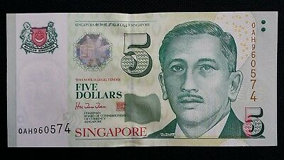 SINGAPORE $5 Dollars ND 1999 P39 UNC Banknote