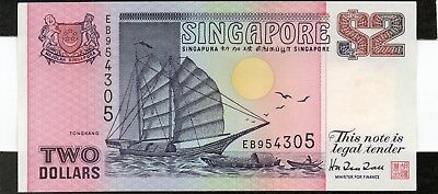 SINGAPORE $2 Dollars ND 1998 P37 UNC Banknote
